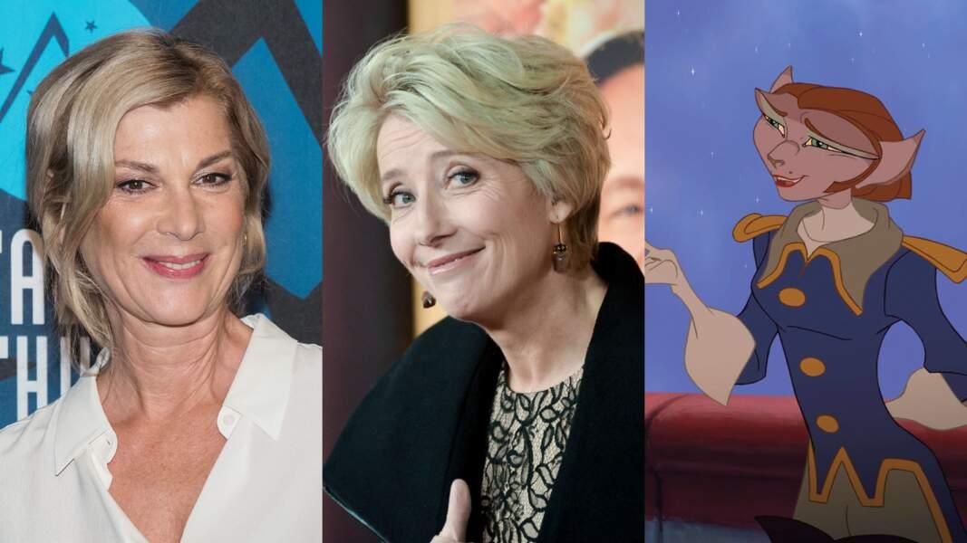 Quant à la Capitaine Amelia, ce sont les blondes Michèle Laroque et Emma Thomson qui lui ont donné vie