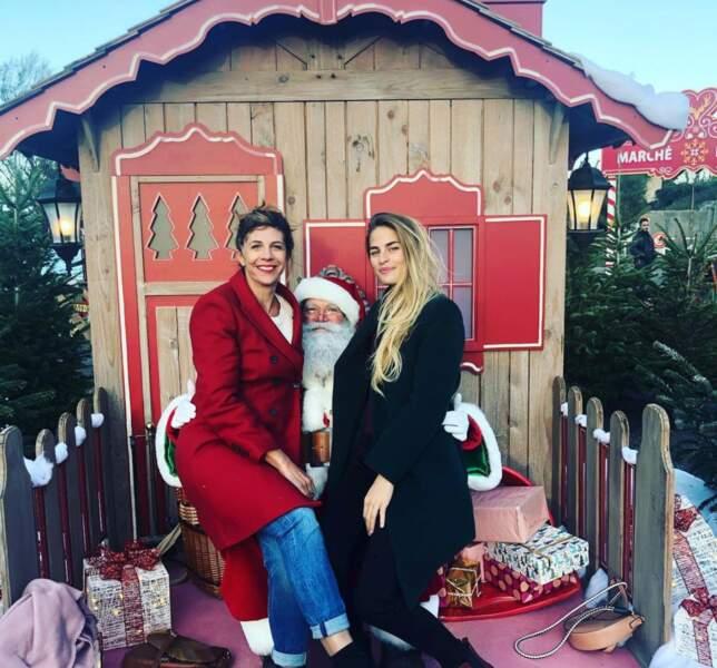 Le Père Noël s'est même déplacé à Sète pour rencontrer Juliette Tresanini et sa collègue Solène Hebert
