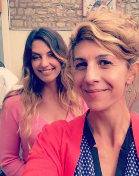 Lorsqu'elle n'est pas à Sète, elle tourne pour d'autres projets, comme ici avec Laetitia Milot