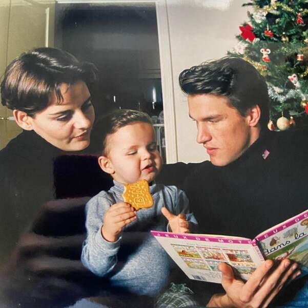 Retour dans le passé pour Julien Castaldi, ici aux côtés de ses parents Benjamin Castaldi et Valérie Sapienza.