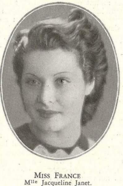 Miss France 1937, Jacqueline Janet