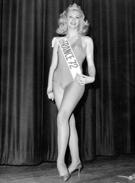 Miss France 1972, Chantal Bouvier. Elle abdique après de lourdes blessures suite à une chute à cheval