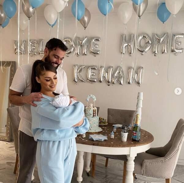 On commence avec de l'amour : Kamila et Noré sont rentrés chez eux avec leur petit Kenan.