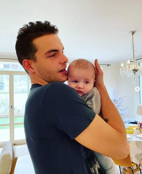 Julien Castaldi et son mini-frère, Gabriel.