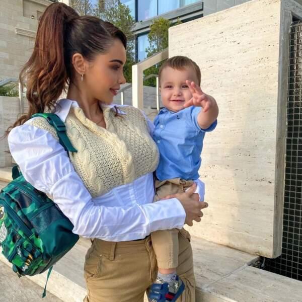 Nabilla est très fière de son fils après sa première journée à la crèche