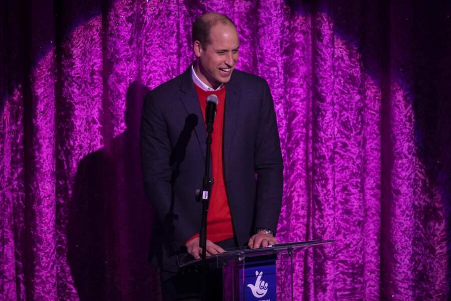 Le prince William s'est adressé au public, composé de personnels sur le front pendant l'épidémie de coronavirus