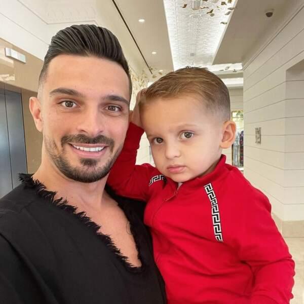 Selfie père-fils pour Julien Tanti et Tiago.