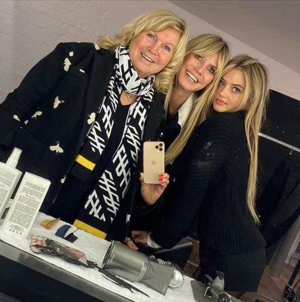 Trois générations de Klum avec Erna, Heidi et Leni.
