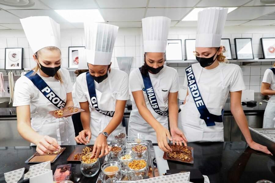 Elles ont aussi pu exercer leur talent dans les cuisines du palace