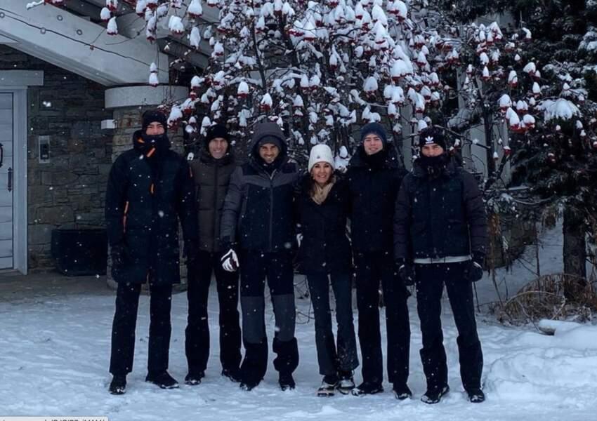 Noël sous la neige pour Zinedine et Véronique Zidane et leurs enfants