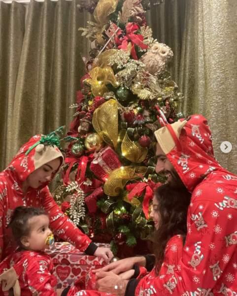 Pyjamas assortis également pour le footballeur Mohamed Salah et sa famille