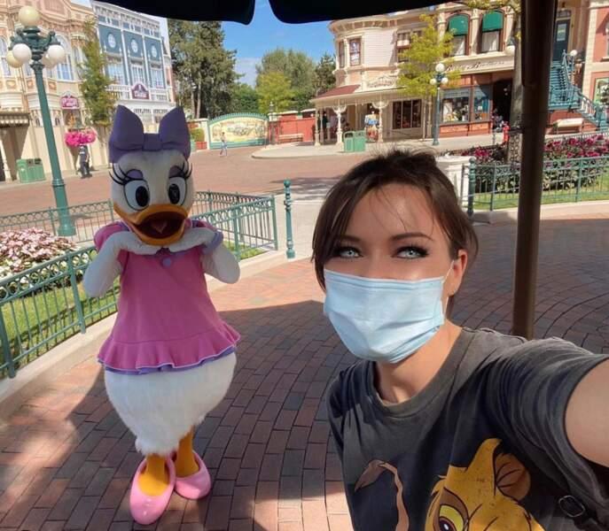 Ce qu'elle préfère, c'est redevenir une enfant et aller à Disneyland Paris !