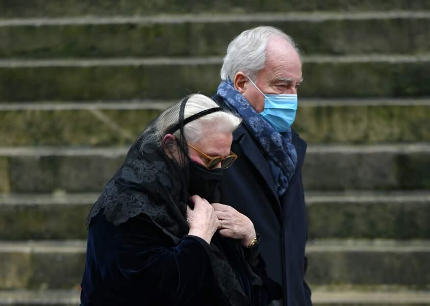 Arrivée de Michèle Cambon -Brasseur, dernière épouse de Claude Brasseur à l'Eglise Saint Roch à Paris.29/12/2020
