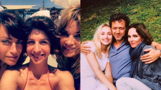 Selfies entre copines de Demain nous appartient, pause foot pour Plus belle la vie... Les photos de tournages de la semaine