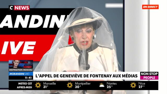 Geneviève de Fontenay surprend Jean-Marc Morandini en arborant un voile en direct (VIDEO)