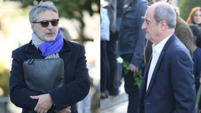 Obsèques de Philippe Gildas : Antoine de Caunes, Pierre Lescure... les personnalités de la télé ont rendu un dernier hommage au journaliste (PHOTOS)