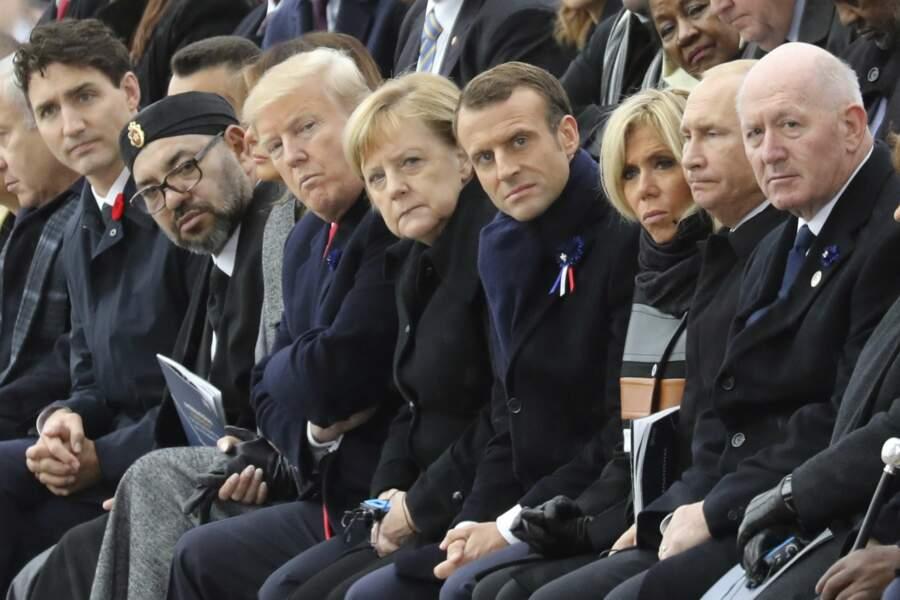 Les grands de ce monde réunis sur les Champs-Elysées pour la commémoration du 11 novembre