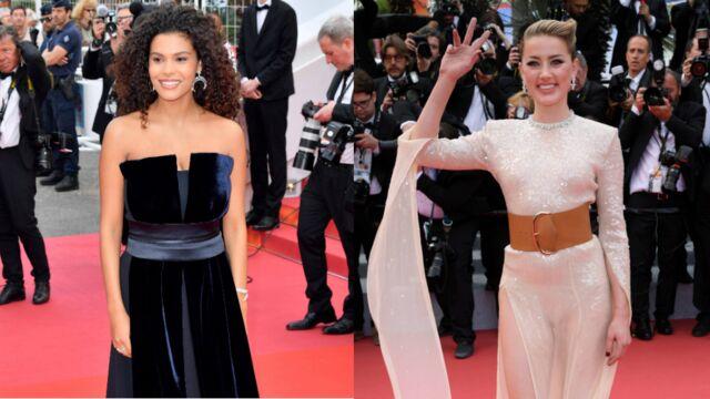 Cannes 2019 : Tina Kunakey magnifique sur les marches, Amber Heard en visite (PHOTOS)