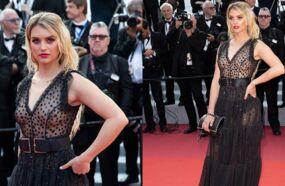 Cannes 2019 : toute en transparence, une jeune femme fait sensation sur le tapis rouge (PHOTOS)