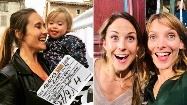 Julie de Bona et son adorable partenaire (Comme un père), Elodie Varlet et Aurélie Vaneck hilares sur PBLV... les coulisses des tournages séries de la semaine (PHOTOS)