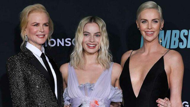 Charlize Theron, Margot Robbie et Nicole Kidman réunies à l'avant-première du film Scandale (PHOTOS)