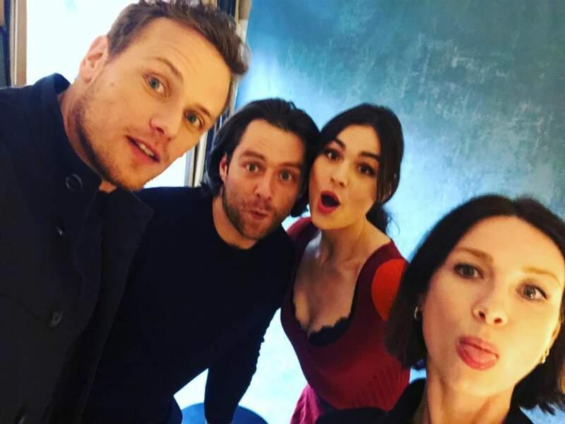 Sur Instagram, les stars d'Outlander dévoilent les coulisses de leur série