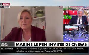 """Échange tendu entre Marine Le Pen et Pascal Praud sur CNews : """"Votre propos est scandaleux !"""" (VIDEO)"""