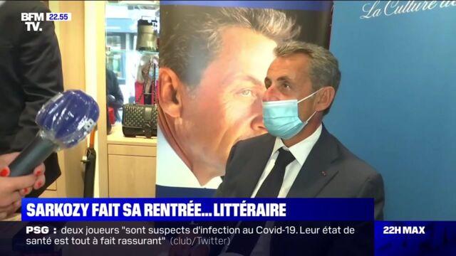 Faut Que Je Fasse Une Dedicace Pour Bfm Tv Nicolas Sarkozy Agace Par Une Journaliste En Pleine Seance De Dedicaces Video Actu Tele 2 Semaines