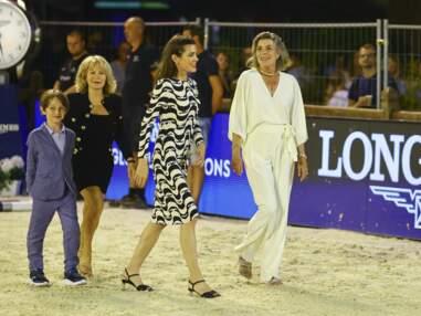 Charlotte Casiraghi complice avec son fils Raphaël Elmaleh et la princesse Caroline au Jumping de Monte-Carlo