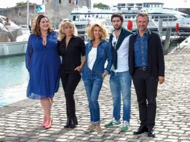 Ingrid Chauvin et le casting de Demain nous appartient réunis au Festival de la fiction de La Rochelle