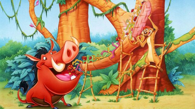 Timon et Pumbaa