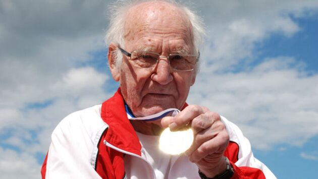 Presque centenaire et athlète