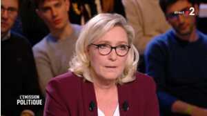 Embarrassée sur le plateau de L'émission Politique, Marine Le Pen se trompe sur le montant du Smic