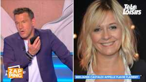 Benjamin Castaldi appelle son ex Flavie Flament pour lui proposer un dîner, sa femme le menace en direct
