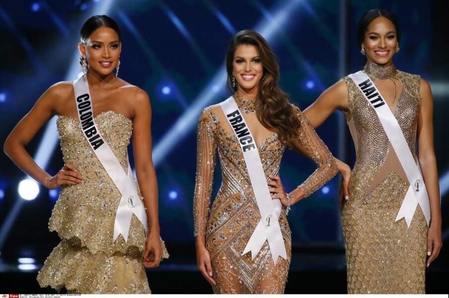 Finalement il ne restait plus que trois finalistes : Andrea Tovar (Colombie), Iris et Raquel Pelissier (Haiti)