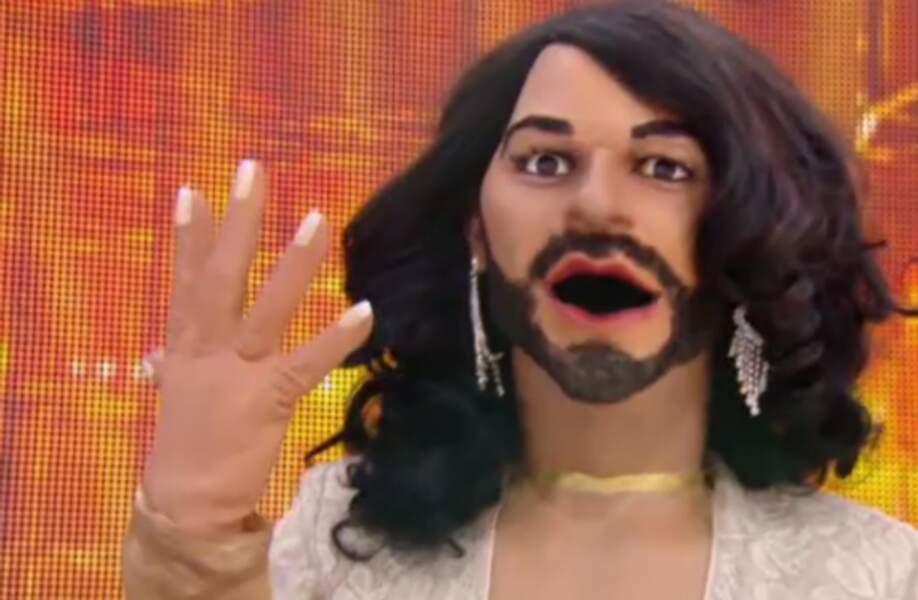 La plus célèbre des femmes à barbe : Conchita Wurst.