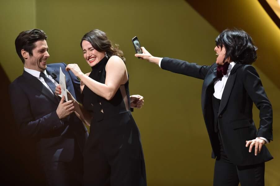 Raphael Personnaz et Marie Gillain ont fait les fous sur scène avec Florence Foresti