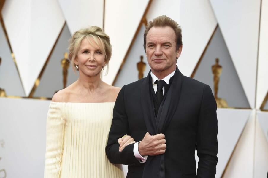 Sting et Trudie Styler, ou quand le rock s'invite aux Oscars