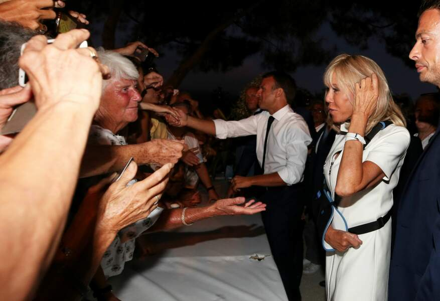 Ce fut l'occasion pour Emmanuel et Brigitte Macron d'aller à la rencontre des Français…