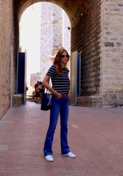 Et oui, la jolie journaliste est en Italie ! Et plus précisément en Toscane...