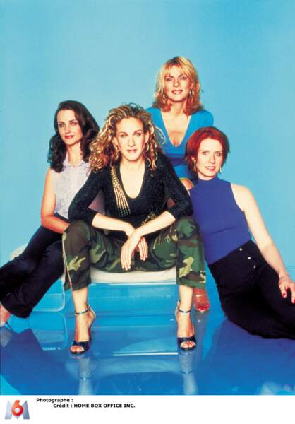Carrie Bradshaw et ses copines dans la série Sex and the City
