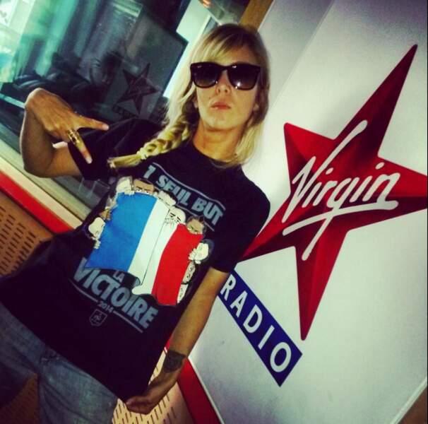 Et Enora Malagré soutient la France. Allez les Bleus demain !