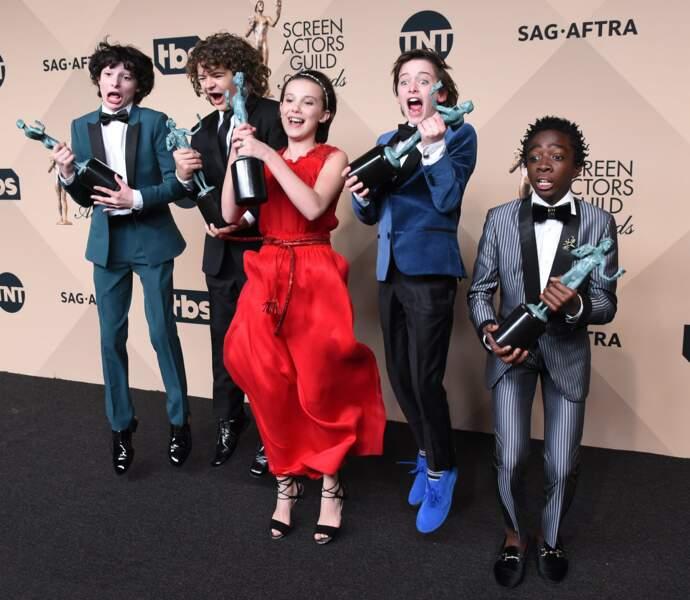 Et que dire du cast de Stranger Things, aux anges d'avoir été récompensé !