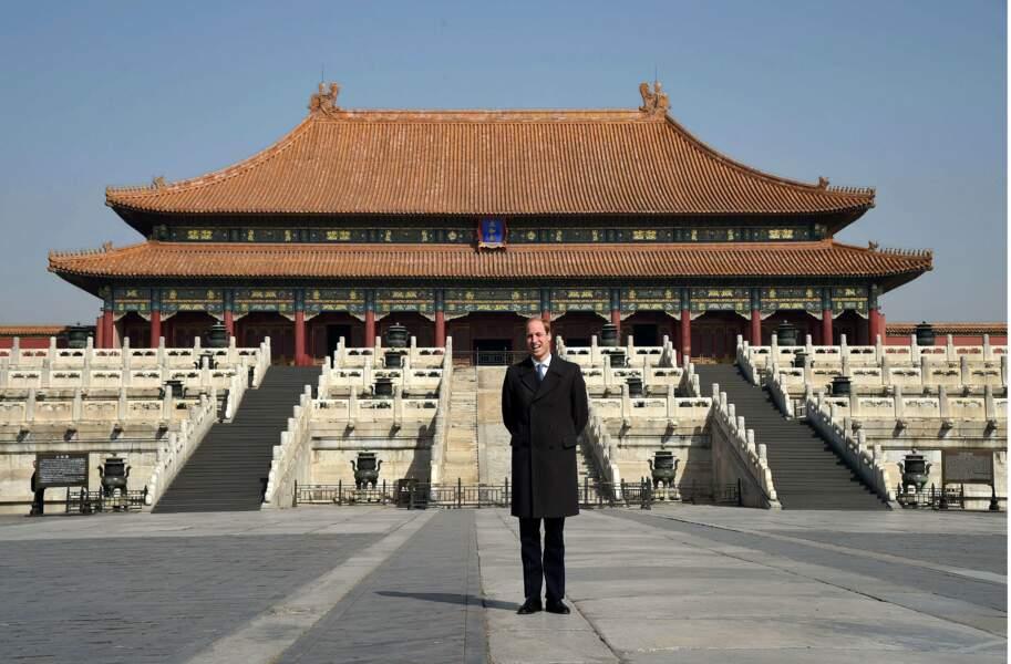 Mars : Le prince William se rend en Chine. À lui la Cité Interdite de Pékin !