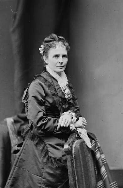 Lucretia Garfield n'a été First Lady que six mois, son mari ayant été assassiné en septembre 1881