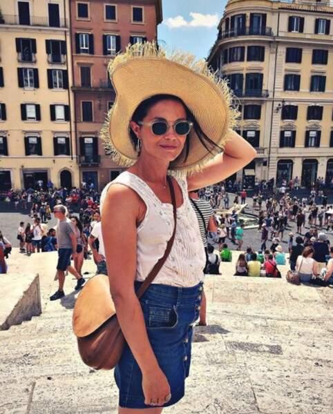 A Rome, Barbara Schulz a sorti son plus beau chapeau.