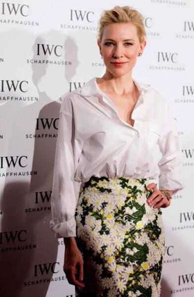 Radieuse Cate Blanchett à Zurich en octobre 2014