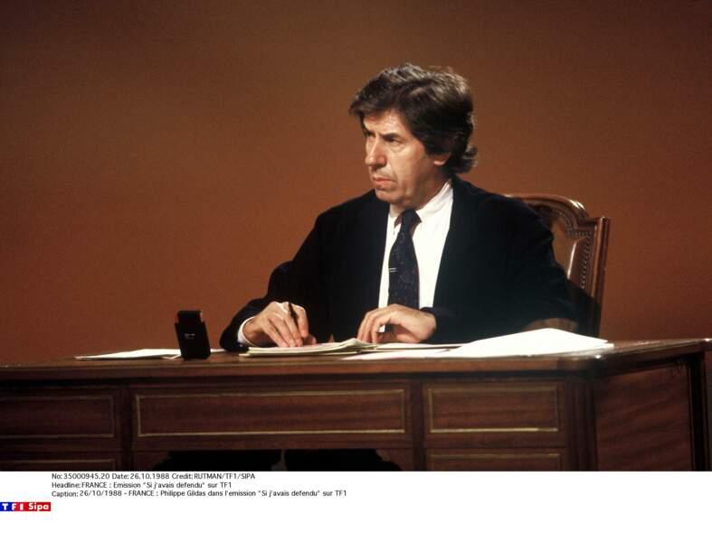 """Philippe Gildas dans """"Si j'avais defendu"""" en 1998"""