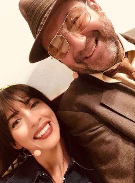 Nolwenn Leroy et Kad Merad hilares avant de monter sur scène