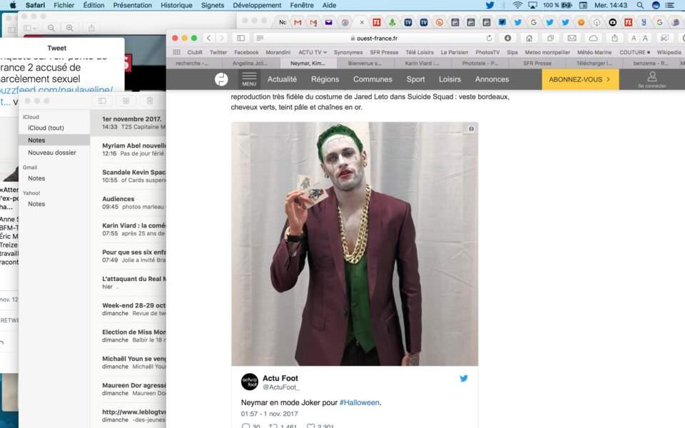Neymar en mode Joker, version Suicide Squad